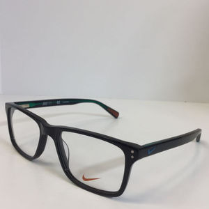 3340d45221f Nike Accessories - Nike 7243 002 black emerald green plastic Eyeglass